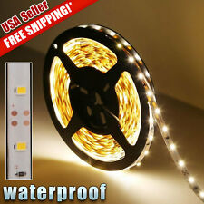 Warm White 5m Roll 16ft 3528 SMD LED 300 LEDs Flexible Waterproof Light Strip US