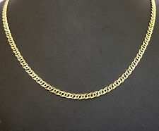 """14Carat Yellow Gold 22"""" Fancy Double Curb Necklace/ Chain 3.5mm Width"""
