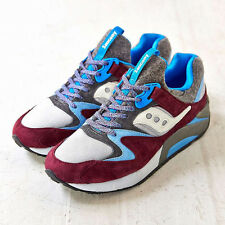 SAUCONY LIMITED EDITION ITALIA GRID 9000 BURGUNDY/GREY/BLUE SNEAKERS SHOES 11