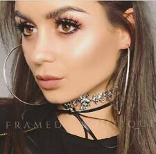 STUNNING DIAMONTE Crystal LEATHER CHOKER Necklace GLAM Celebrity PARTY Goth