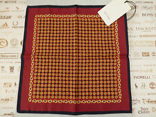 PAUL SMITH Pocket Square Italian Flower Silk Hankie Red Handkerchief BNWT RRP£50