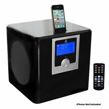 Pyle PHSI50B 300W IPod / Iphone LCD Stereo System W/  AM/FM Radio & Alarm Clock