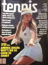 'Tennis' US Tennis Magazine - December 1980 - Andrea Jaeger - 1981 Racket Guide