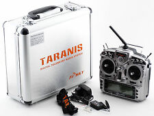 FrSky X9D Plus Taranis 2.4GHz Radio & X8R receiver & Aluminum Case UK FAST Ship