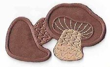 Brown Mushroom Fungus Fungi Embroidery Patch