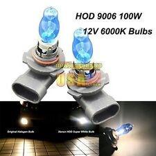 9006/HB4 12V 6000K 100W Super White HOD Halogen Lamp Headlight Fog Light Bulbs