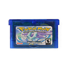 Pokemon CRYSTAL Blue GBA For Nintendo Game Advance Console Game Card Gifts