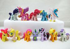 MY LITTLE PONY Figure Set PVC TOY Cake Topper TWILIGHT SPARKLE Rainbow Dash AU