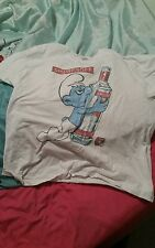 Smurfnoff. Funny Smurf With Vodka Bottle Novelty T Shirt