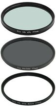 Set of 3 ICE 77mm Filter ND1000 UV CPL Neutral Density ND 1000 77 Optical Glass