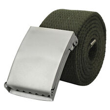 Men Plain Webbing Web Military Style Canvas Green Belt Buckle Hot