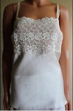 Josie Natori Rose Parfait Camisole Silk White Lace Small $150 NWT