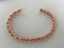 Non Magnetic Pure Copper Twist Design Bracelet Bangle Pain Relief Arthritis