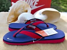NWT NIKE WOMEN'S CELSO GIRL THONG FLIP FLOPS ~ UNIVERSITY RED & BLUE 7M