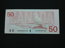 1988 $50 DOLLAR BILL BANK NOTE CANADA BIRD SERIES REPLACEMENT NOTE EHX3520763 EF