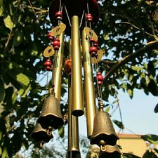 New 4 Tubes 5 Bells Bronze Yard Garden Outdoor Living Wind Chimes