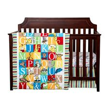 Trend Lab 30430 Dr. Seuss Alphabet Seuss 3 Piece Crib Bedding Set NEW