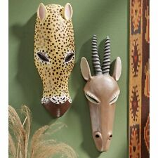 African Mask Art Artwork Wildlife Animal Sculpture Africa Safari Wall Decor Gift