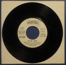"""7"""" - PROMO - ELTON JOHN - STAINLESS STEAL EGO - CAN CAN - MINT"""