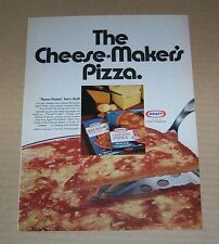 1972 ad page - Kraft Foods frozen Cheese Pizza vintage PRINT advertisement AD