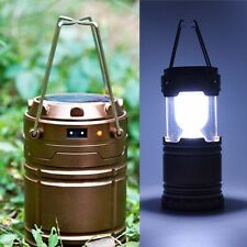 Portable Linterna LED Solar Plegable Luz Outdoor USB Recargable Camping Lampara