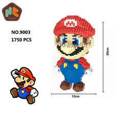 HC Game Super Mario Red Big Figure Diamond Mini DIY Building Nano Block Kids Toy