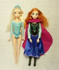 Disney Frozen Anna & Elsa Doll Lot of 2 Jointed Anna Clothes Shoes b23