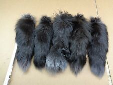 #1 Quality XXL Tanned  Dyed Silver Fox Tails/Crafts/Real USA Tail/Harley