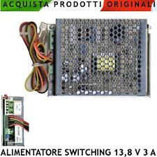 Alimentatore Caricabatterie Stabilizzato Antifurto Switching 13,8 V. 3 A Allarme