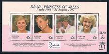 Norfolk Is 1998 Diana Commemoration MS SG 665 MNH