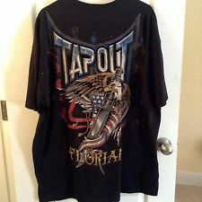 "TAP OUT ""SIGNATURE SERIES"" BLK URBAN T SHIRT EAGLE FLAG SWORD  WORN ONCE  2XL"
