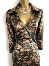Karen Millen brown floral shirt dress size 10
