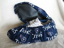 Tennessee Titans bowling shoe covers. Fits shoe size 10-12. Handmade cotton