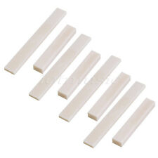 4set Blank Real Bone Guitar Bass Saddle 80x10x4mm and Nut 52 x 6 x 9mm