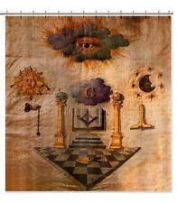 Vintage Masonic Apron Translite 6'x6' Freemason Banner 1817 Nathaniel Negus