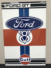 Ford GT Gulf raciing advertising sign oil gas porsche ford