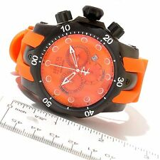 New Men's Invicta 11969 Venom Swiss Quartz Chronograph Orange Dial Polyurethane