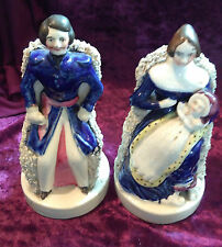 Staffordshire Figures of Queen Victoria Prince Albert with the princess Royal