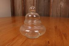 Short Decorative Rounded Glass Apothecary Jar Wedding Decoration Footed Pedestal
