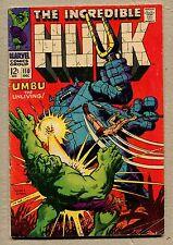 Incredible Hulk #110 - Umbu The Unliving! - 1968 (Grade 5.0) WH