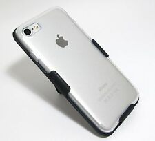 For iPhone 7 TRANSPARENT / CLEAR CASE with BELT CLIP HOLSTER