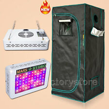 300W Led Grow Light Veg Flower Plant + 27''×27''×63''Indoor Grow Tent Kit