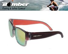 Bomber Floating GOMER Sunglasses Crystal Red w/ Red Mirror Lens Mens Surfing