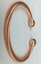 Copper Bracelet Magnetic Men Women's Arthritis Healing Energy Flexible Braided.