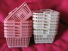 SANRIO PLASTIC BASKETS LOT OF 10 WHITE & PINK EASTER BASKETS