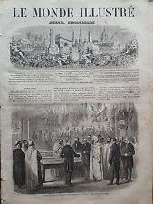 LE MONDE ILLUSTRE 1865 N 433 ABD-EL- KADER VISITANT LE MUSEE DE L' ARTILLERIE