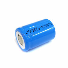 1 pc 4/5 Sub C SC 1600mAh 1.2V Ni-Cd rechargeable Battery Cell Flat Top Blue