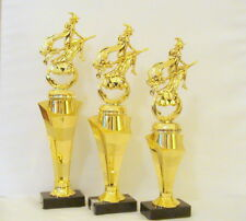 SET OF 3 HALLOWEEN TROPHIES  WITCH TROPHY COSTUME CONTEST WITCH ON PUMPKIN