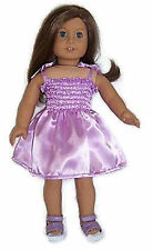 Doll Clothes 18 in Girl LAVENDER SATIN SUN DRESS Ebay ID: Buy-American-Boutique