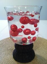 Elegant Red Jumbo Pearls mix size Vase Filler Wedding Decor Table Scatter